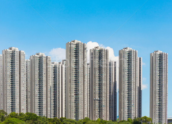 Foto d'archivio: Hong · Kong · residenziale · edifici · città · muro · home