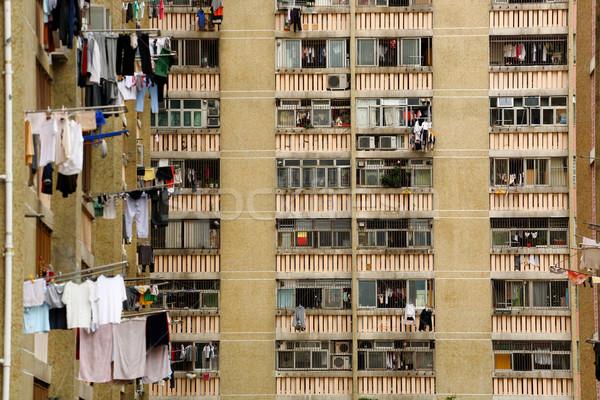 public apartment block in Hong Kong, China Stock photo © leungchopan