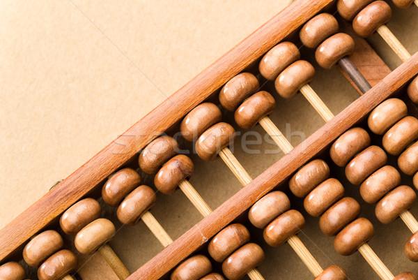 Wooden abacus bead Stock photo © leungchopan