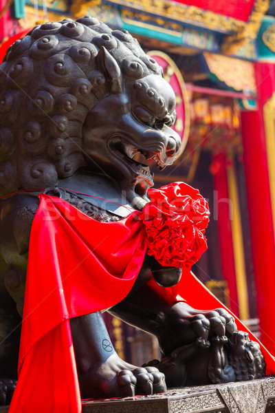 lion statue statuary Stock photo © leungchopan