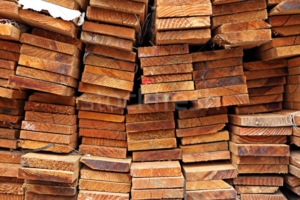 Stacked Construction Wood Stock photo © leungchopan