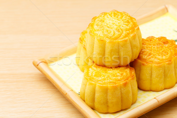 Chinese traditional mooncake close up Stock photo © leungchopan