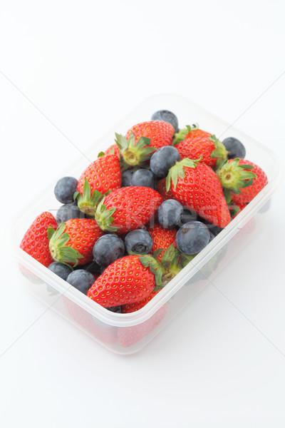 Stockfoto: Bes · gezonde · lunch · vak · vruchten