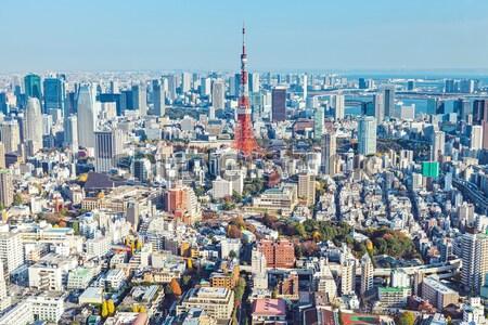 Tokio horizonte Japón cielo oficina edificio Foto stock © leungchopan