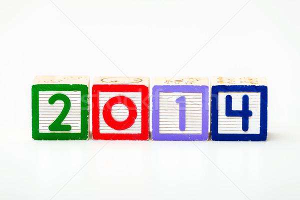 Ano 2014 fundo assinar carta Foto stock © leungchopan