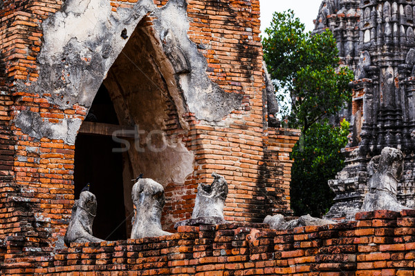 Historical architecture in Ayutthaya, Thailand Stock photo © leungchopan