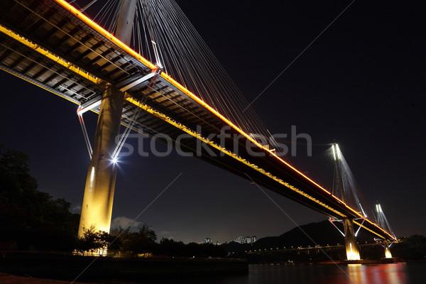 моста Гонконг бизнеса небе здании город Сток-фото © leungchopan