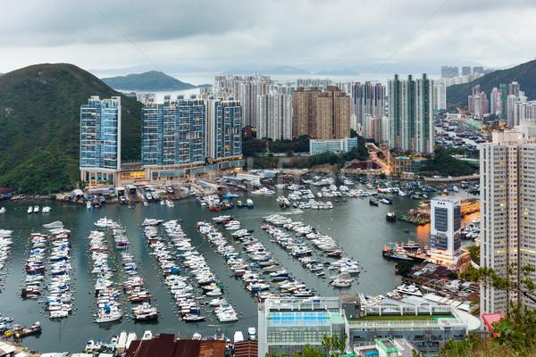 Tierheim Hongkong Baum Gebäude Stadt home Stock foto © leungchopan