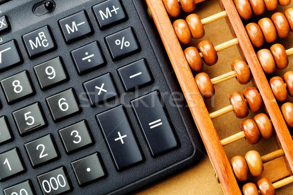 Moderna calculadora ábaco chino herramienta antigua Foto stock © leungchopan