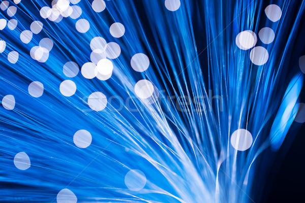 Fibre optical in blue color Stock photo © leungchopan