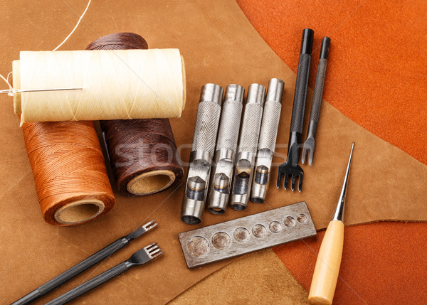 Craft tool for handmade leather  Stock photo © leungchopan