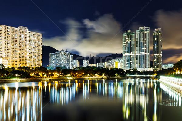 New territories in Hong Kong at night Stock photo © leungchopan