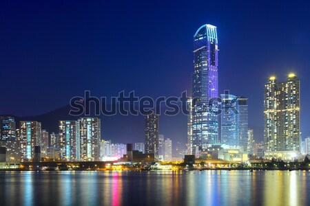 Kowloon skyline in Hong Kong Stock photo © leungchopan
