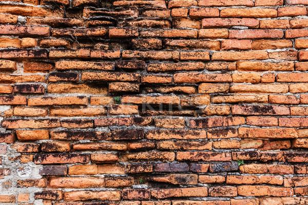 Ancient red brick wall Stock photo © leungchopan