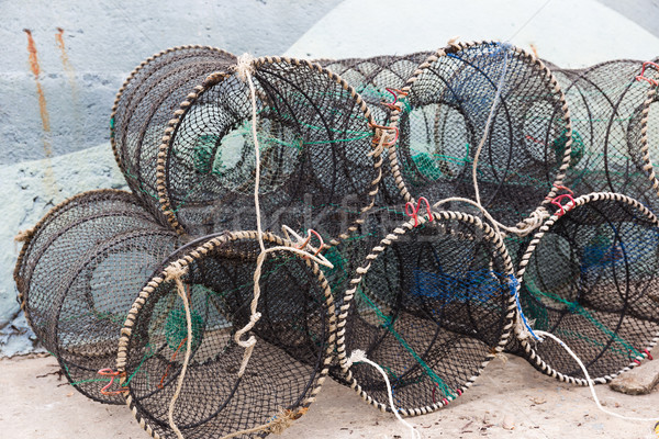 Traps for capture fisheries and seafood Stock photo © leungchopan