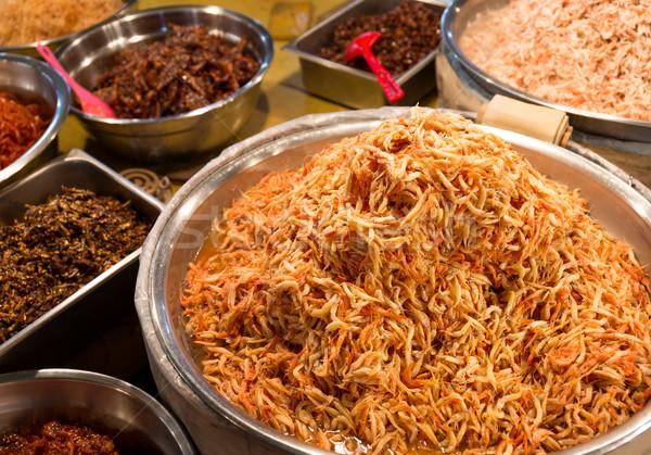 Korean appetiser in food market Stock photo © leungchopan