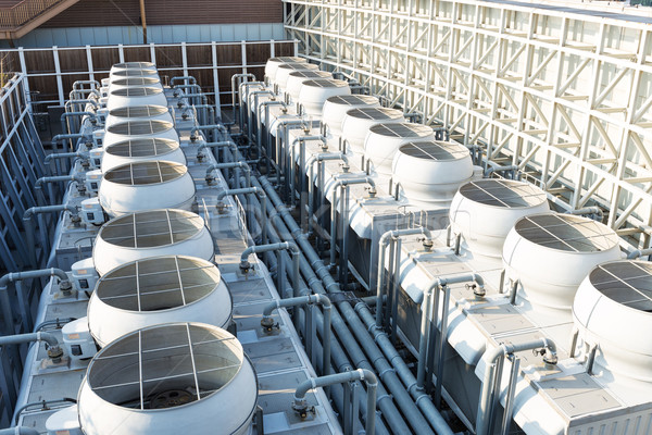 Cooling tower at roof top Stock photo © leungchopan
