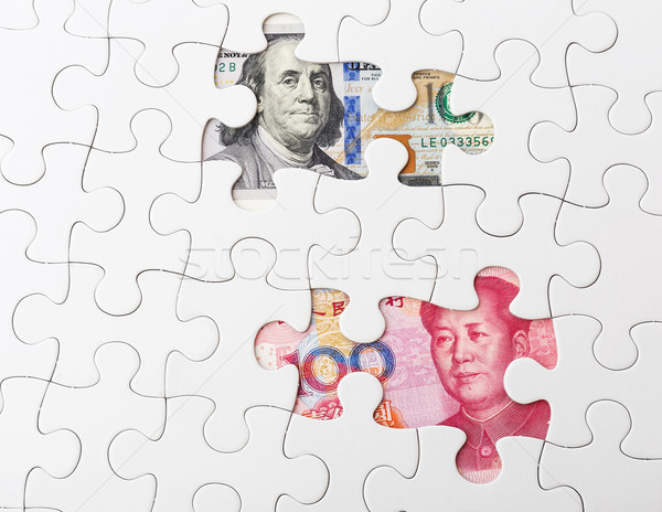 Stockfoto: Witte · puzzel · chinese · bankbiljet · business · papier