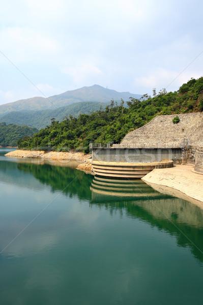Сток-фото: небе · лес · пейзаж · лет · зеленый · озеро