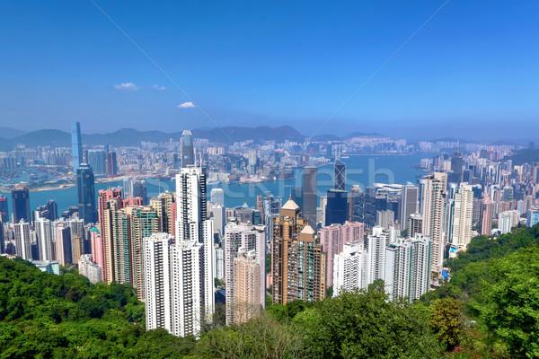 Hong Kong business kantoor gebouw stad abstract Stockfoto © leungchopan
