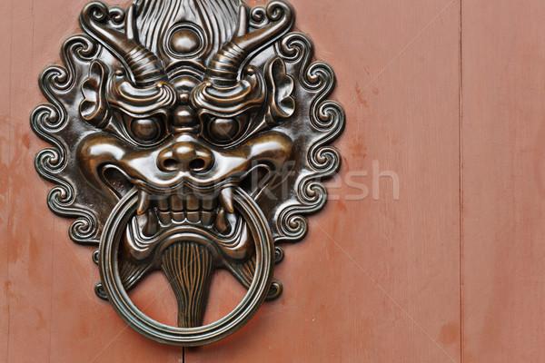 Stok fotoğraf: Aslan · kapı · dizayn · Metal · mimari