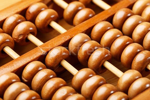 Abakusz fa oktatás matematika szám ősi Stock fotó © leungchopan