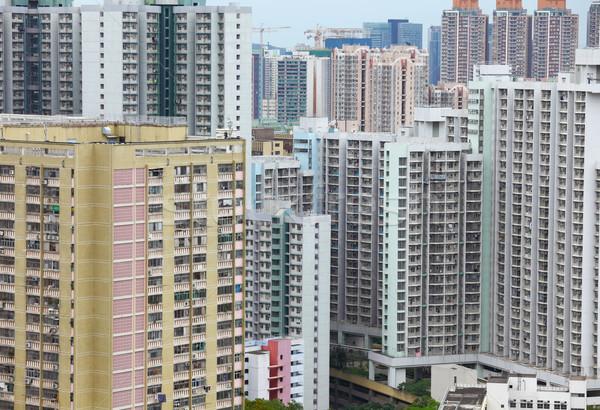 住宅の 地区 香港 家 建物 壁 ストックフォト © leungchopan