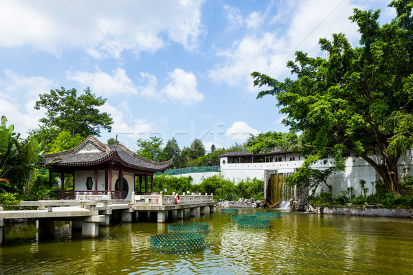 Stock photo: Chinese traditional garden