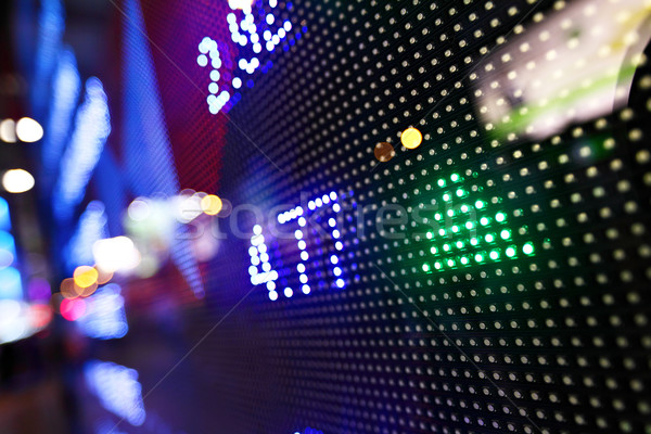 Display of Stock market quotes Stock photo © leungchopan