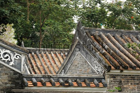 chinese temple roof Stock photo © leungchopan