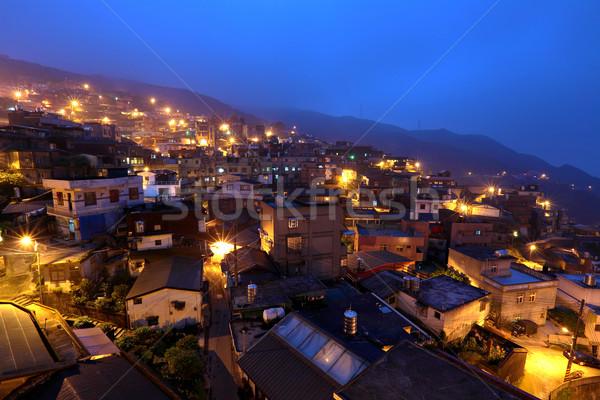 chiu fen village at night, in Taiwan Stock photo © leungchopan