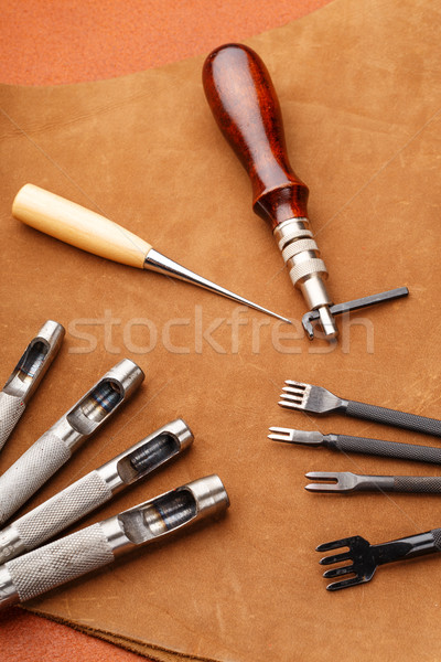 Leather craft equipment Stock photo © leungchopan