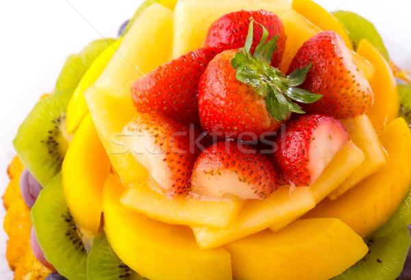 フルーツケーキ ケーキ ブドウ デザート 桃 キウイ ストックフォト © leungchopan