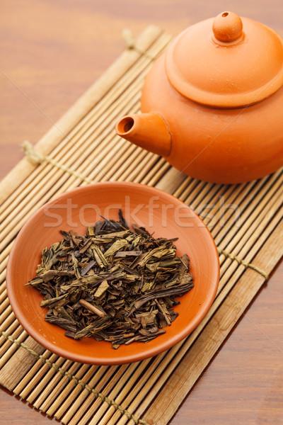 китайский чай церемония продовольствие Кубок азиатских Сток-фото © leungchopan