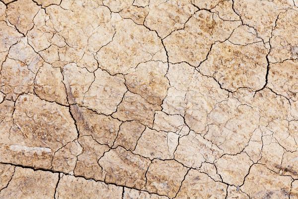 Secas rachar terra deserto terra areia Foto stock © leungchopan