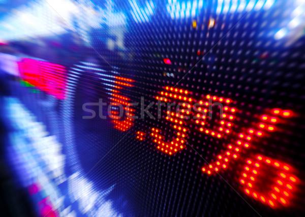 Stock foto: Aktienmarkt · Preis · Drop · Display · Geld · Zeichen