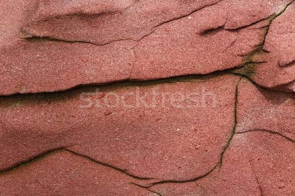 Stock photo: red rock texture