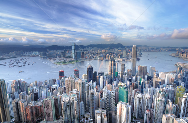 Photo stock: Hong-Kong · affaires · bureau · bâtiment · ville · résumé