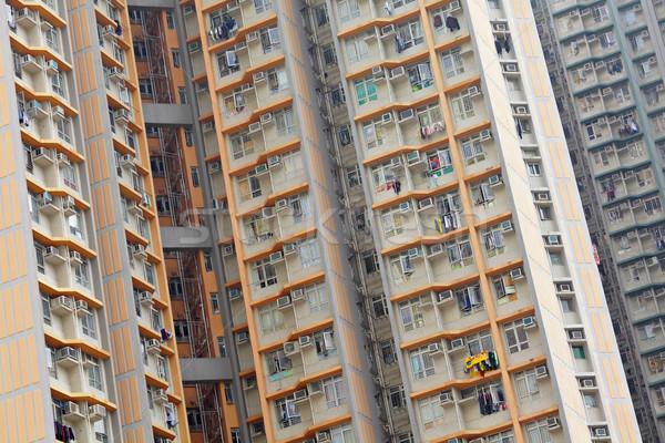 Гонконг общественного дома домой фон окна Сток-фото © leungchopan