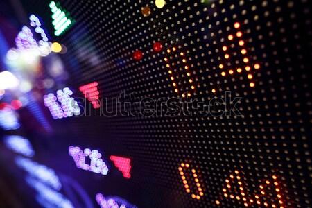 Stockfoto: Beurs · prijs · display · abstract · monitor · Blauw
