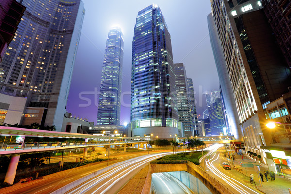 traffic light stream and highrise buliding Stock photo © leungchopan