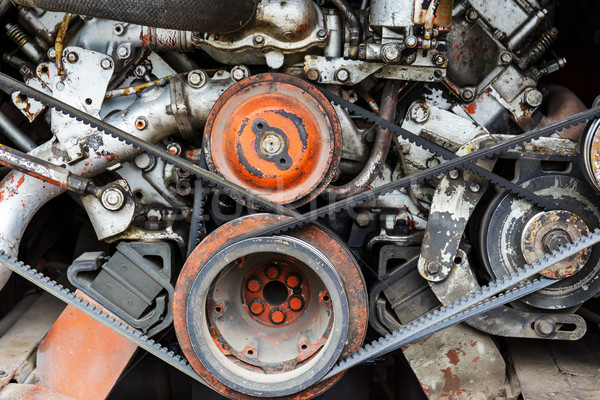 Vehicle engine close up Stock photo © leungchopan