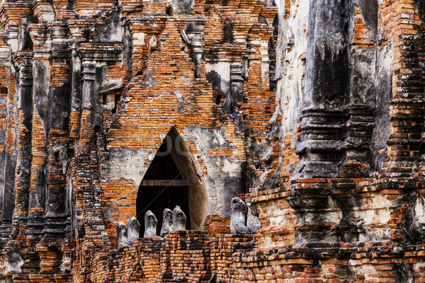 Historic architecture in Ayutthaya, Thailand Stock photo © leungchopan