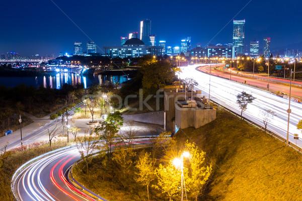 Urban city and busy traffic Stock photo © leungchopan