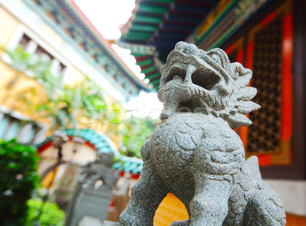 Stock photo: Chinese traditional dragon statue