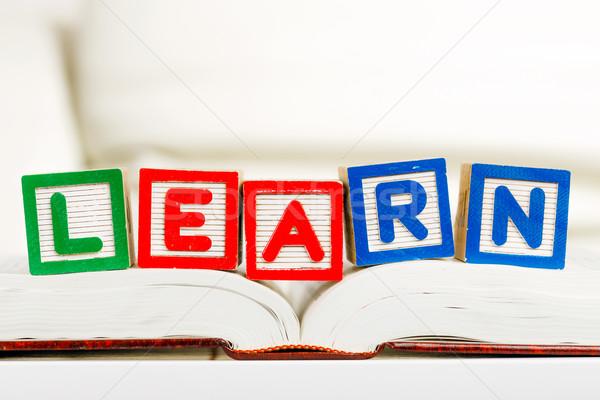 Leitura família livro diversão aprendizagem Foto stock © leungchopan