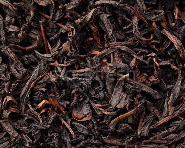 Çin siyah çay doku yaprak Çin Stok fotoğraf © leungchopan