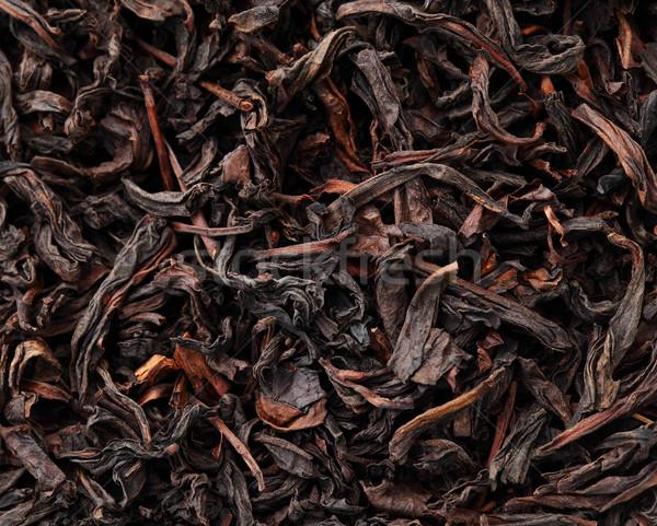 Chinese zwarte thee textuur blad China Stockfoto © leungchopan