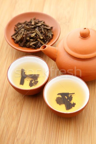 Té ceremonia alimentos taza vintage blanco Foto stock © leungchopan