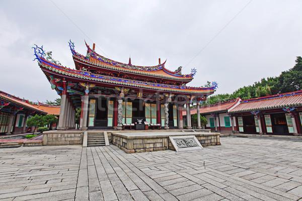 храма Тайвань архитектура азиатских крыши религии Сток-фото © leungchopan